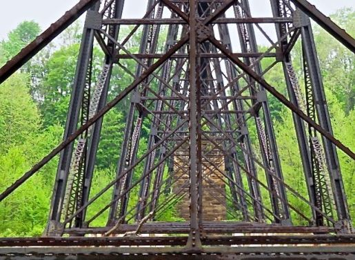 Detail from really cool railroad trestle in Painesville.